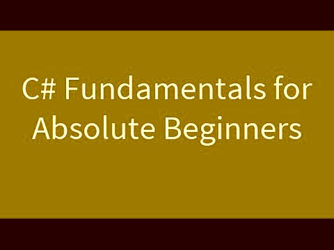 C# Language Fundamentals For beginners